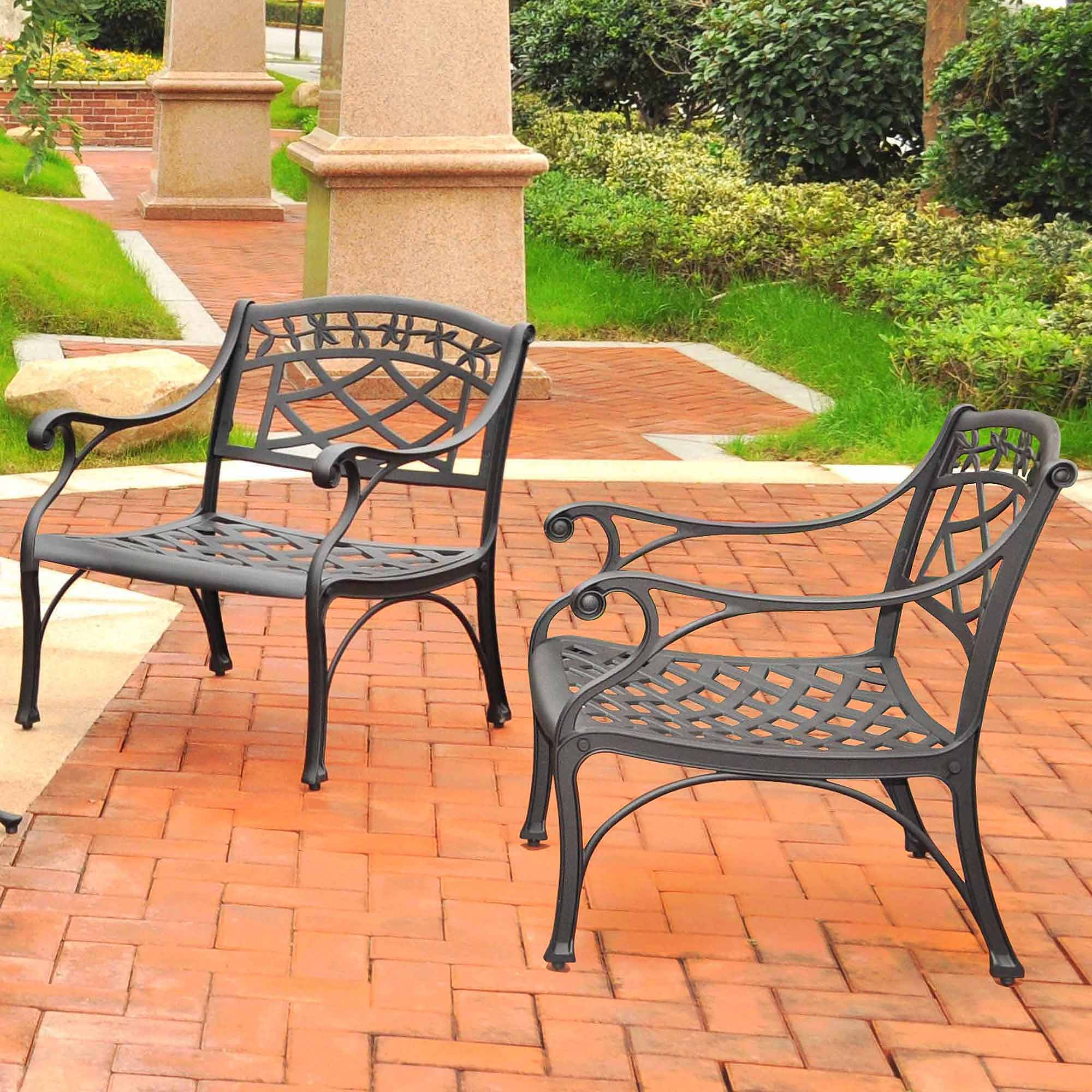 Crosley Furniture Sedona 2 Pc Black Outdoor Conversation Seating