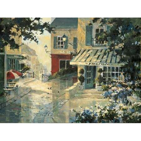 Village Florist Rolled Canvas Art - Marilyn Simandle (11 x 14) (Village Florist)
