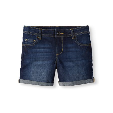 School Girl Plus Size (Wonder Nation Denim Rolled Cuff Short (Little Girls, Big Girls & Big Girls)