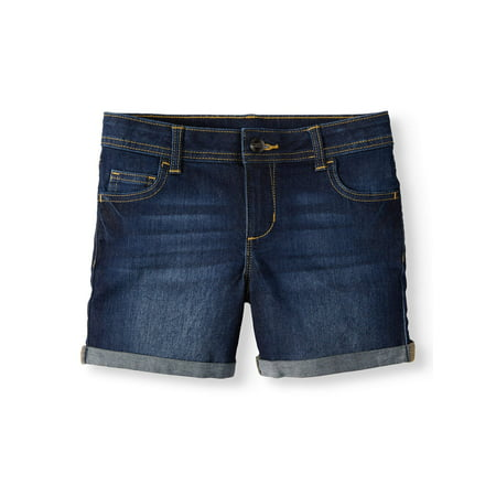 Wonder Nation Denim Rolled Cuff Short (Little Girls, Big Girls & Big Girls Plus) - Girl Clothes 10-12