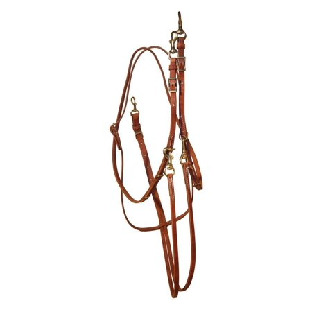 Berlin Custom Leather Martingale Hermann Oak Barrel Rein Chestnut (Leather Stand Martingale)
