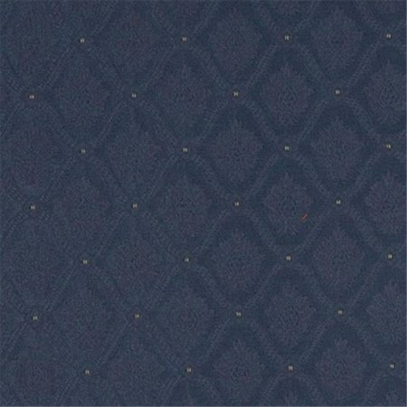 Designer Fabrics A495 54 in. Wide Navy And Gold Two Toned Brocade Medallion Upholstery Fabric