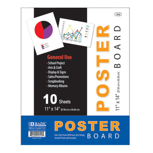 Bazic Poster Board (Set of 10)