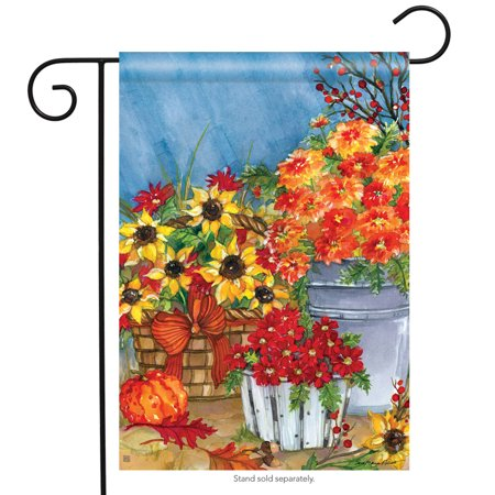 mum's the word fall garden flag sunflower pumpkin autumn banner  12.5