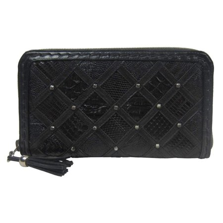 Ladies Black Oiled Cowhide - CORRAL Women's Black Cowhide with Teju Lizard and Python Patchwork D1032