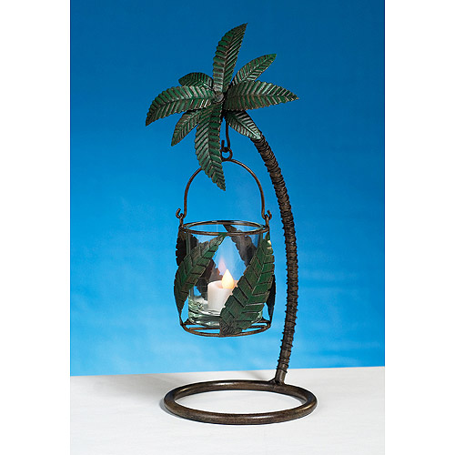 Metal Palm Tree Candle Holder by