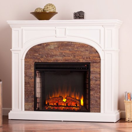Southern Enterprises Tanaya Electric Fireplace ()