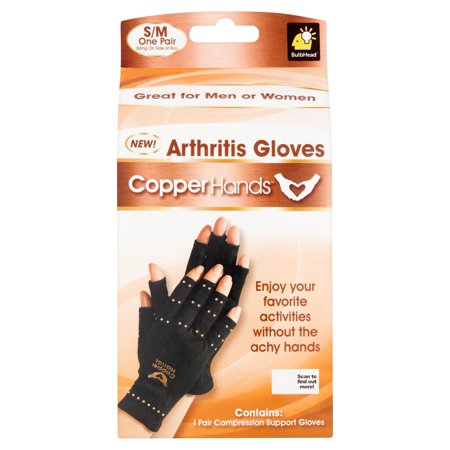 Copper Hands Compression Gloves, -