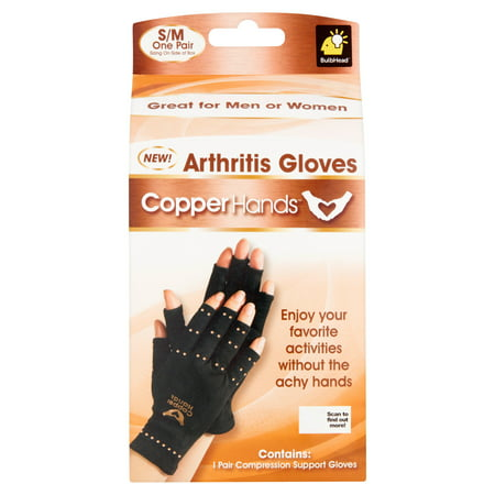 Copper Hands Compression Gloves, S/M