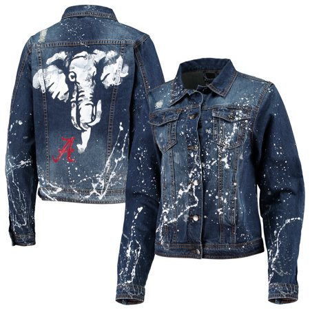 Alabama Crimson Tide Women's Missy Denim Jacket - Denim - S thumbnail