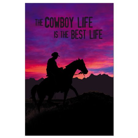 Tree-Free Greetings Cowboy Sunset Boxed ECOnotes Blank Note Cards-FS56329 - Cowboy Invitations