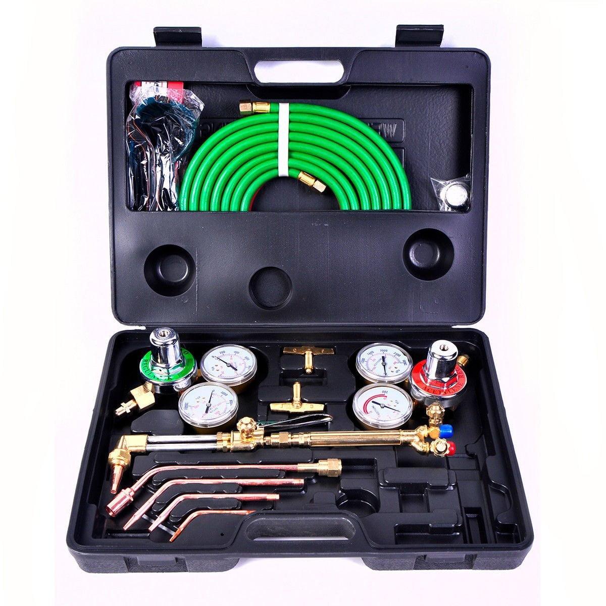 Gas Welding Cutting Kit Oxy Acetylene Oxygen Torch Brazin...