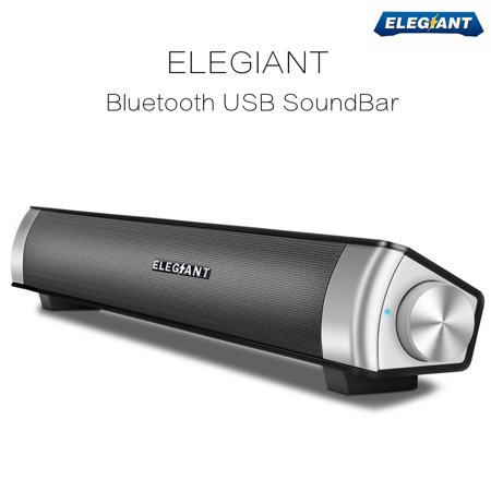 Soundbar ,ELEGIANT 360° Stereo Sound Bar Multimedia Speaker Music Player Music Sound Box for Computer Desktop PC Notebook Smartphone