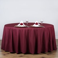 Product Image Efavormart 120 Round Polyester Tablecloth For Kitchen Dining Catering Wedding Birthday Party Decorations Events