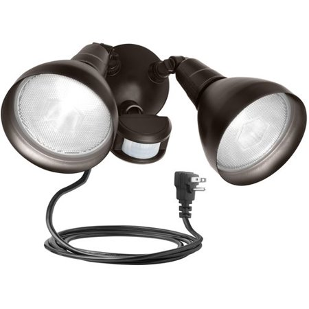 Brinks 180 degree 2 head plug in motion activated security light brinks 180 degree 2 head plug in motion activated security light bronze workwithnaturefo