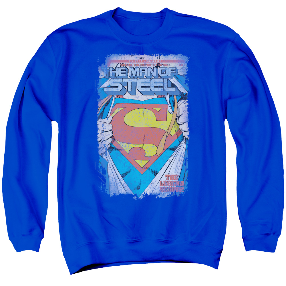 Superman DC Comics Legendary Adult Crewneck Sweatshirt