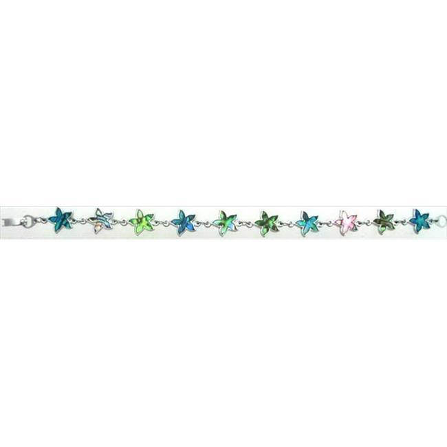 Solid Rock Jewelry 760372 Bracelet Paua Shell Flower - image 1 of 1