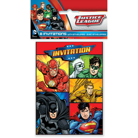 Justice League Invitations, 8ct](Train Invitations)