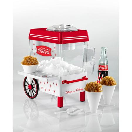 Nostalgia SCM550COKE Coca-Cola Snow Cone Maker and Shaved Ice Storage