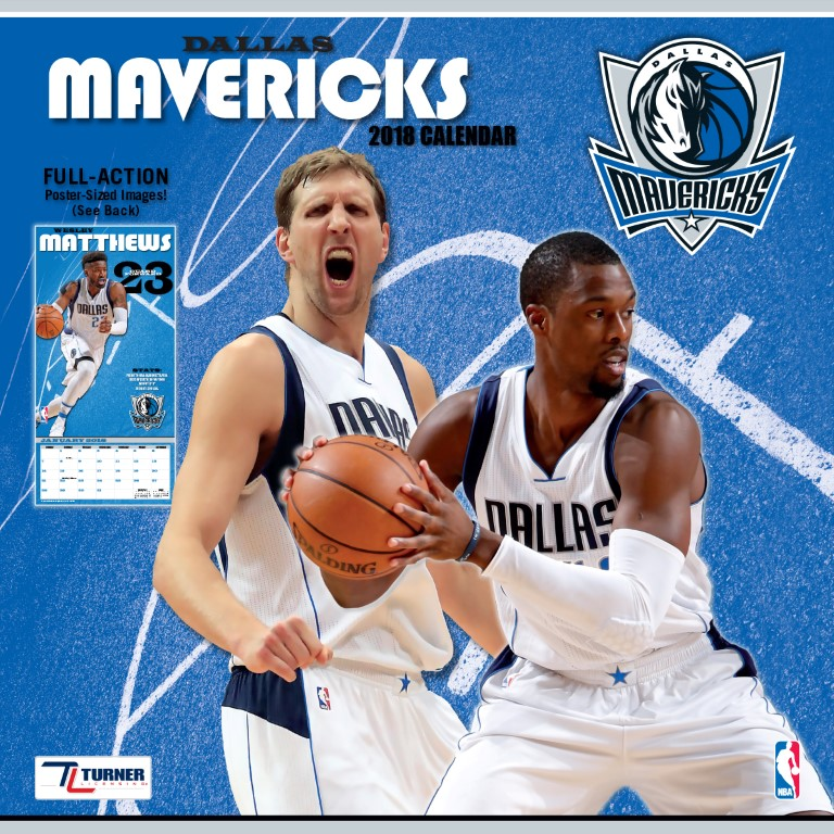 TURNER SPORTS DALLAS MAVERICKS 2018 12X12 TEAM WALL CALENDAR