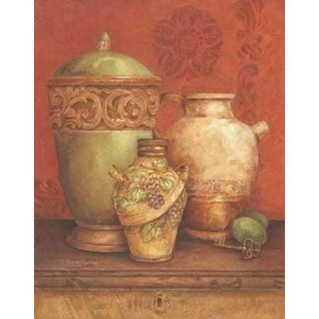 Tuscan Urns I Rolled Canvas Art - Pamela Gladding (11 x 14)