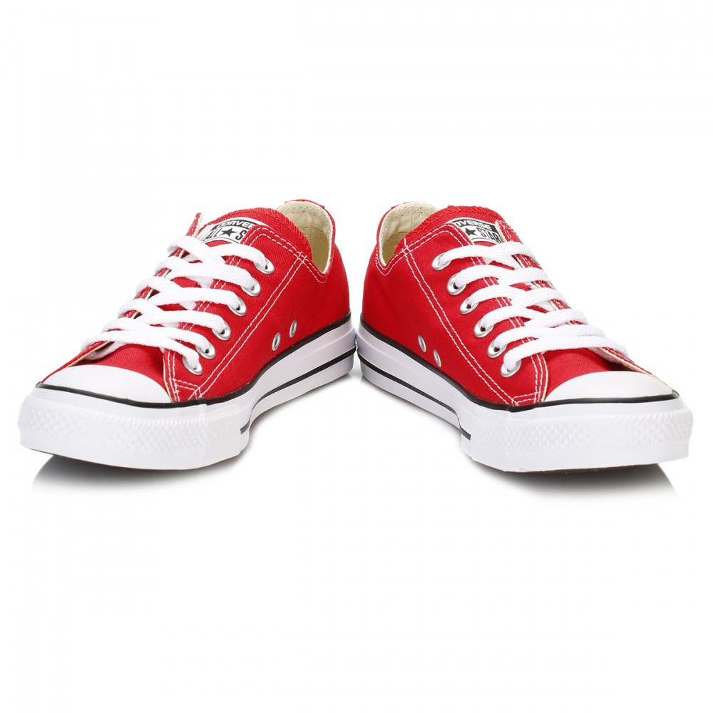 Converse M9696: Low Top Chuck Taylor All Star Red Retro Classic Sneaker (13 US Men 15 US Women 13 UK 48 EU, Red)