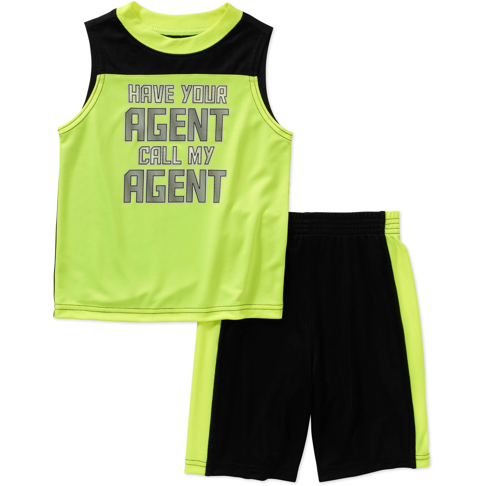 Healthtex Baby Toddler Boy Muscle Tee & Shorts Athletic Outfit Set