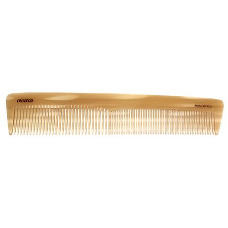 Swissco Medium & Wide Tooth Dressing Comb, White Horn