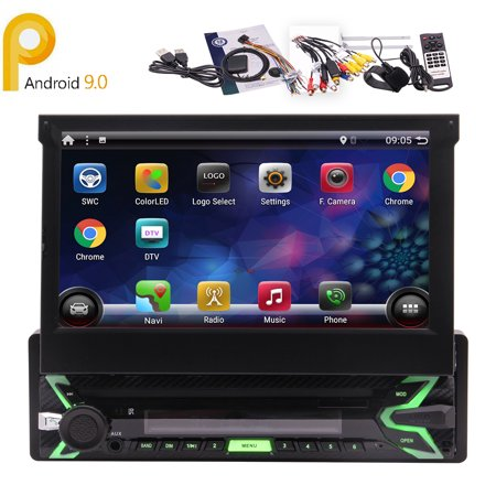 EINCAR Android 9.0 Car Stereo Single Din with GPS Navigation in Dash Wifi Bluetooth 1 Din Headunit Car Auto Video Radio Player Fastboot AUX-in USB SD 7 Inch Capacitive Touch Screen (Indash Car Stereo 10 Inch)