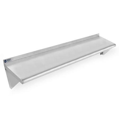 (GRIDMANN NSF Stainless Steel Kitchen Wall Mount Shelf Commercial Restaurant Bar w/ Backsplash - 14