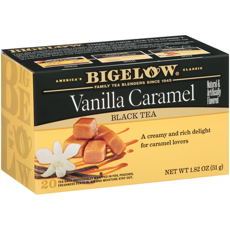 (6 Boxes) Bigelow, Vanilla Caramel, Tea Bags, 20 - Vanilla Coconut White Tea