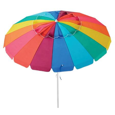 Caribbean Joe Deluxe 8' Beach Umbrella with UV Coating