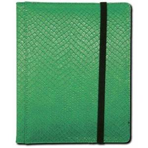 Vision3 Games LGNBN4DHG Dragon Hide 4 Pocket Binder - Green