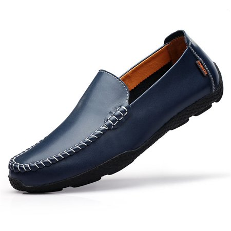 Meigar Men's Causal Slip on Loafers Boat Shoes Walking Driving Party Outdoor Leather Shoes ()