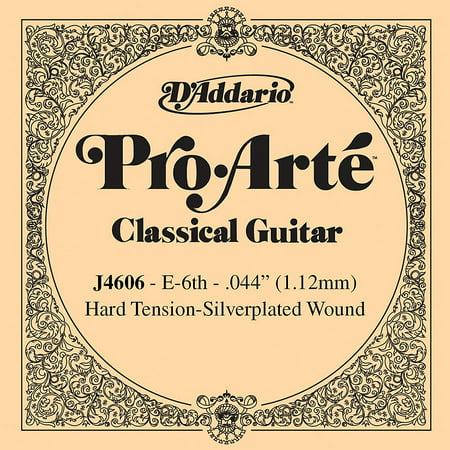 D'Addario J46 E-6 Pro-Arte SP Hard Single Classical Guitar String Classical Guitar Strings Tie End