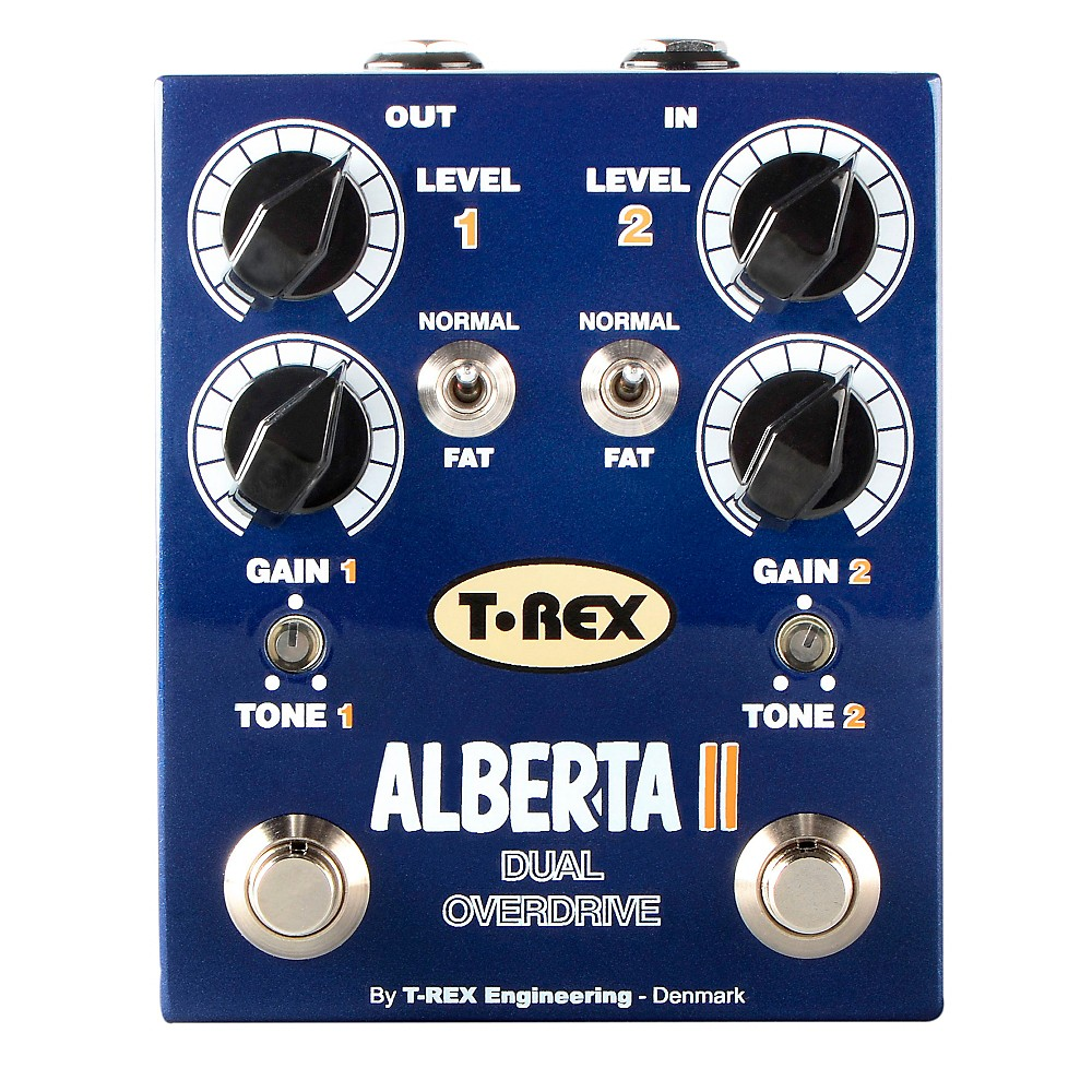 T-Rex Engineering Alberta II Dual Overdrive Guitar Effects Pedal by T-Rex Engineering