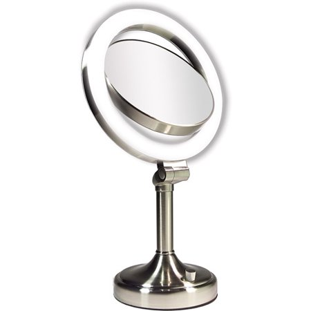 Zadro Dimmable Sunlight Vanity Mirror Satin Nickel 10x
