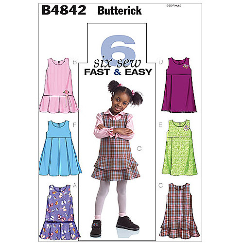 Butterick Toddlers' and Children's Jumpers, CF (4, 5, 6)