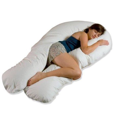 Moonlight Slumber Comfort-U Total Body Support Pillow (Full Size) Frustration-Free Packaging