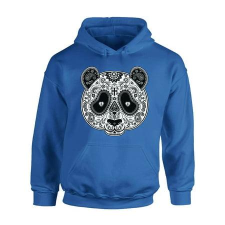 - Awkward Styles Panda Skull Hooded Sweatshirt Skull Hoodie Gifts for Panda Lovers Dia de los Muertos Outfit Women's Skull Clothing Hoodie Men Skull Sugar Skull Hoodie Sweater Day of the Dead Gifts