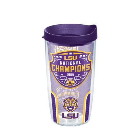 NCAA LSU Tigers 2019 National Champions 16 oz Tumbler with lid