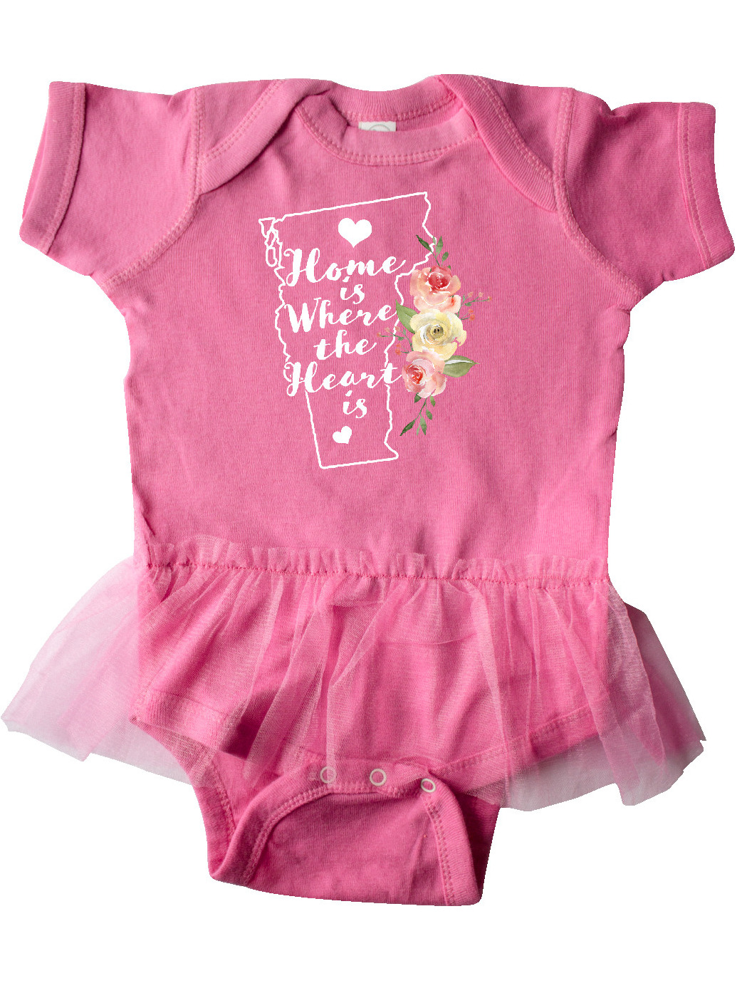 inktastic Vermont Home is Where The Heart is with Infant Tutu Bodysuit