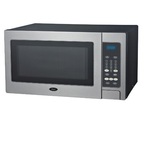 Oster Stainless Steel 0 9 Cu Ft Microwave Walmart Com