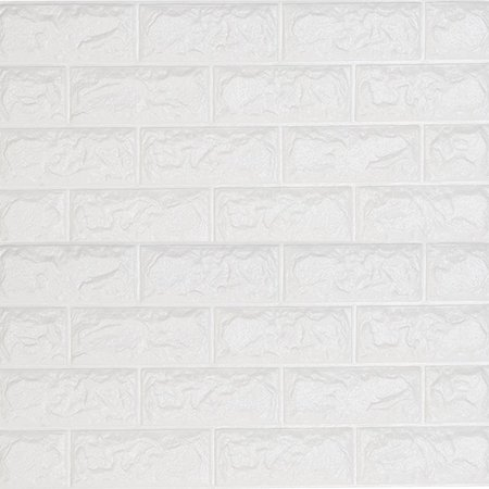 NK HOME 23.5'' x 23.5'' Brick Wallpaper 3D Wall Stickers Self-adhesive Panel Decal PE Wallpaper Peel and Stick Wall Panels for TV Walls Sofa Background Wall Decorate
