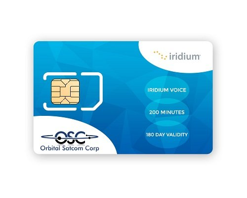 Iridium Prepaid SIM Card with 200 Canada & Alaska Minutes...