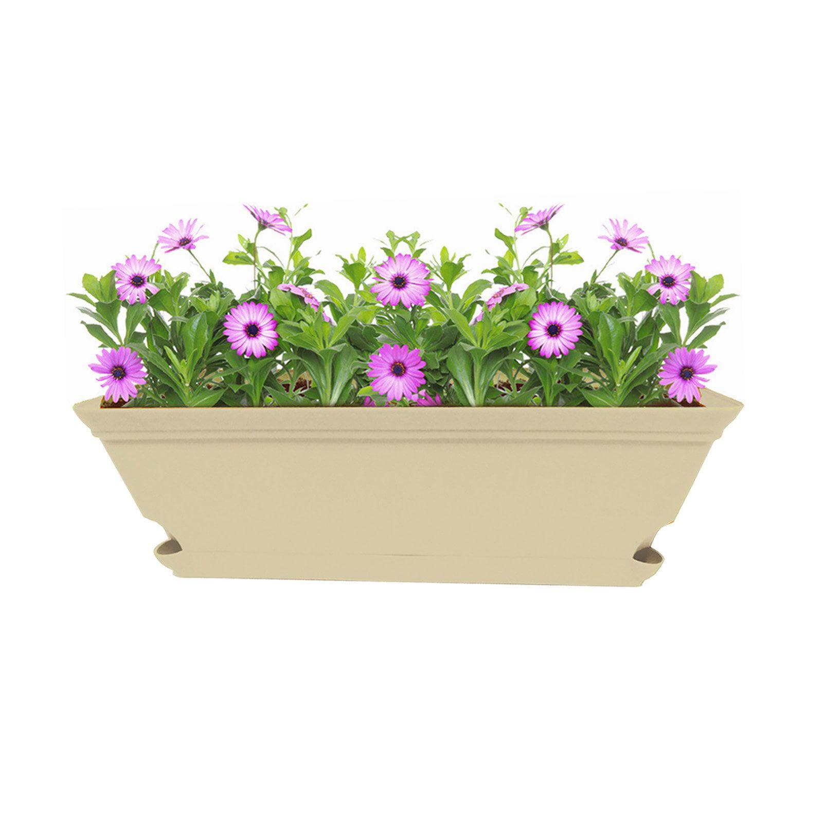 Missry 24 in. Self Watering Window Planter Box - Set of 2