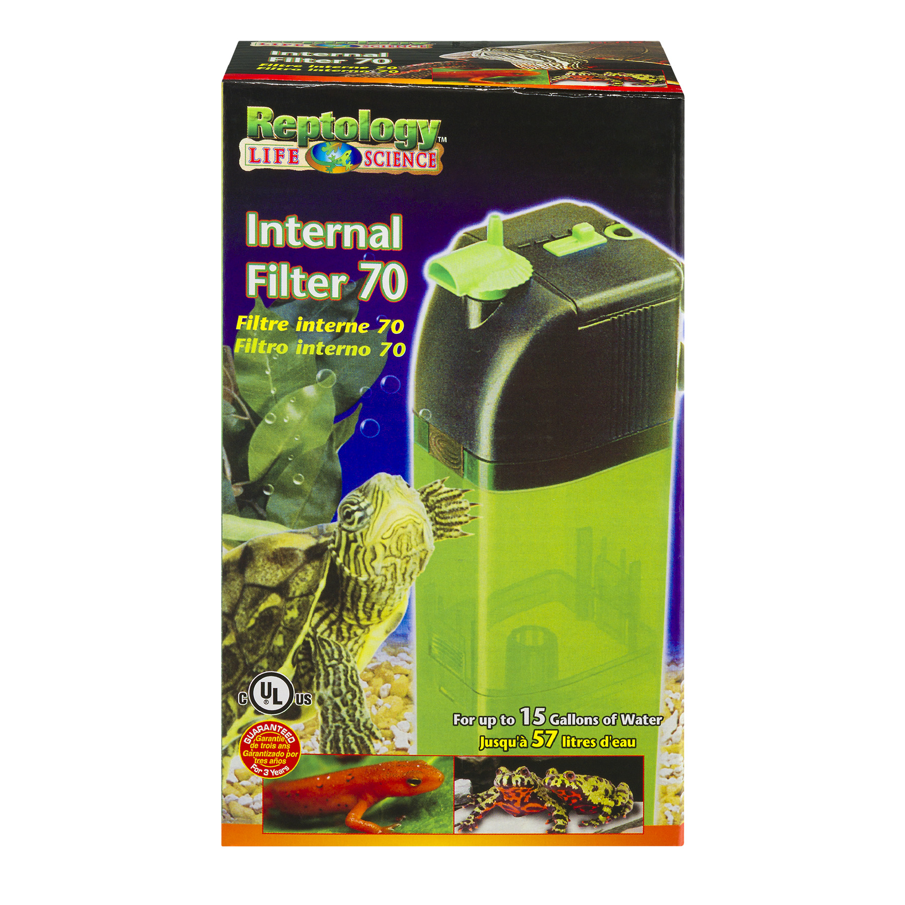 Penn-Plax Reptology Life Science Internal Filter 70, 1.0 CT
