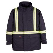 BIG BILL M305US7 - S - REG - NAY Flame-Resistant Parka, Insulated, S, Navy