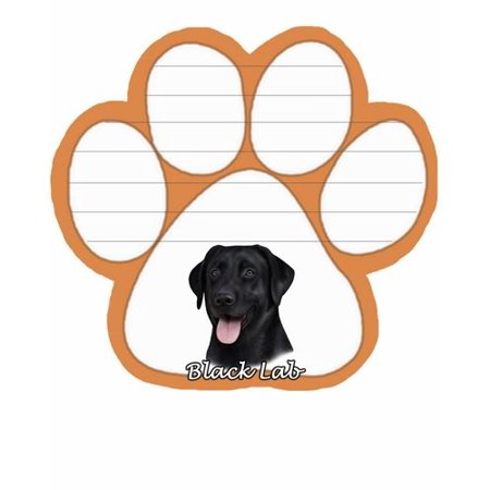 Labrador Notepad - Black Labrador Dog Paw Magnetic Note Pad