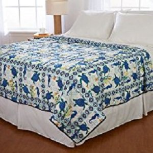 Ashley Cooper Turtle Quilt in Twin size 68 in x 86 in